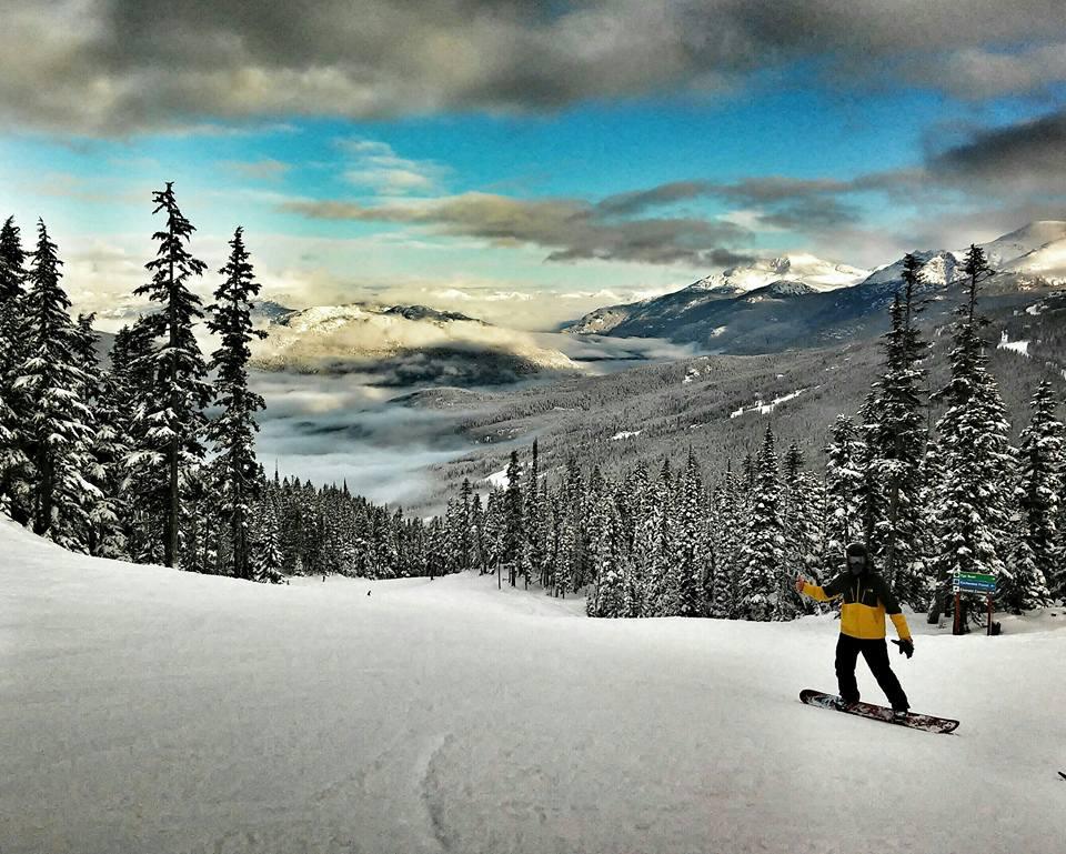 Snowboarden in Whistler, Kanada