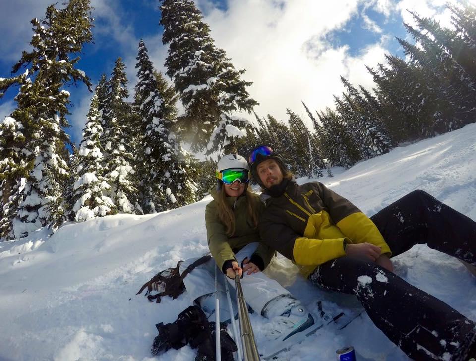 Winter-Selfie in Whistler, Kanada