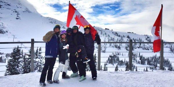 Vanessas Work and Travel in Kanada führt sie nun in Skigebiete