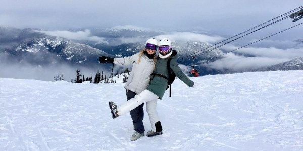 Vanessa in einem Skigebiet beim Work and Travel in Kanada