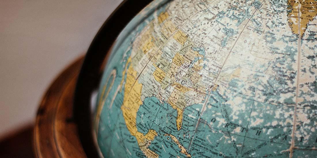 Globus mit Ausschnitt Nordamerika