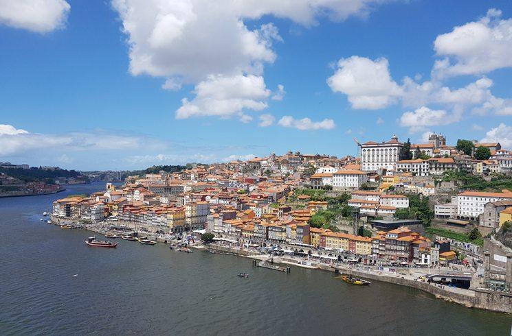 Blick auf Porto, Portugal