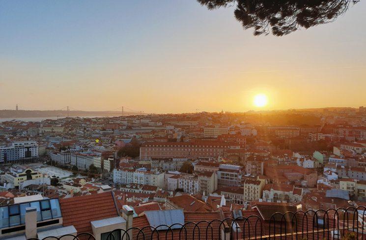 Blick auf Lissabon, Portugal