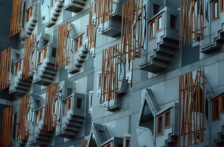 Modernes Edingburgh in Schottland