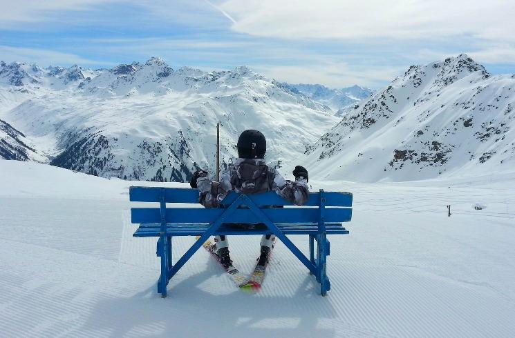 Ski fahren in der Schweiz