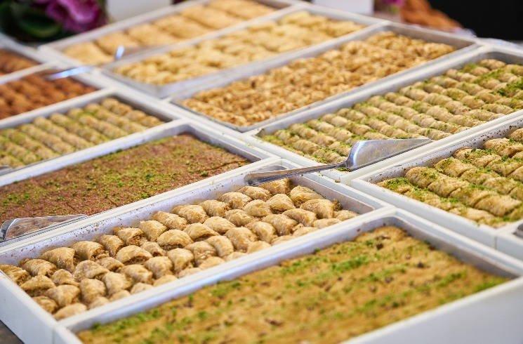 Verschiedene Baklava-Sorten in der Türkei