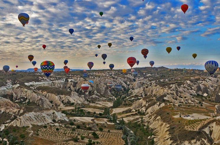 Ballon-Festival in der Türkei