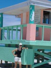 Laura am Strand von Florida
