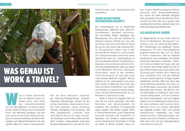 "Work & Travel Guide: Kapitel ""Was ist Work and Travel?"""