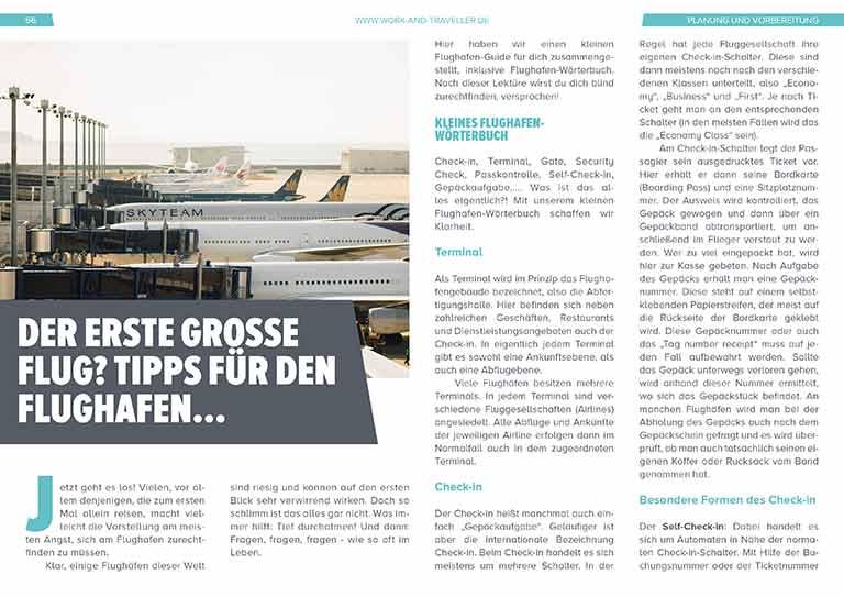 """Work & Travel Guide: Kapitel """"Tipps für den Flug"""""""