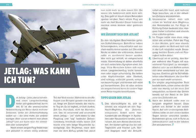 """Work & Travel Guide: Kapitel """"Tipps gegen Jetlag"""""""