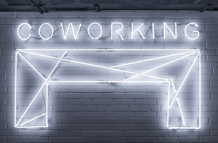 Co-Working-Schild